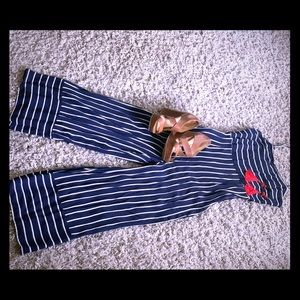 Navy and White Pinstriped Jumper from Forever21